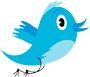 Twitter logo and star